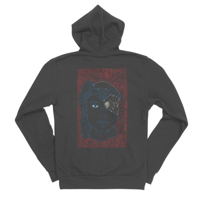 Amazonian Skull Men's Sponge Fleece Zip-Up Hoody by Krist Norsworthy Art & Design