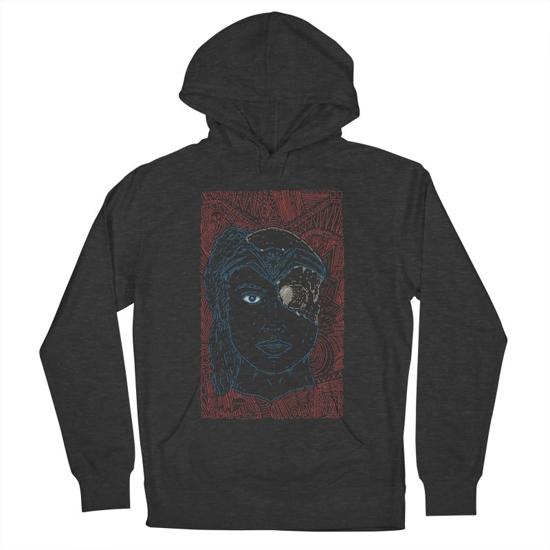 Amazonian Skull Women's French Terry Pullover Hoody by Krist Norsworthy Art & Design