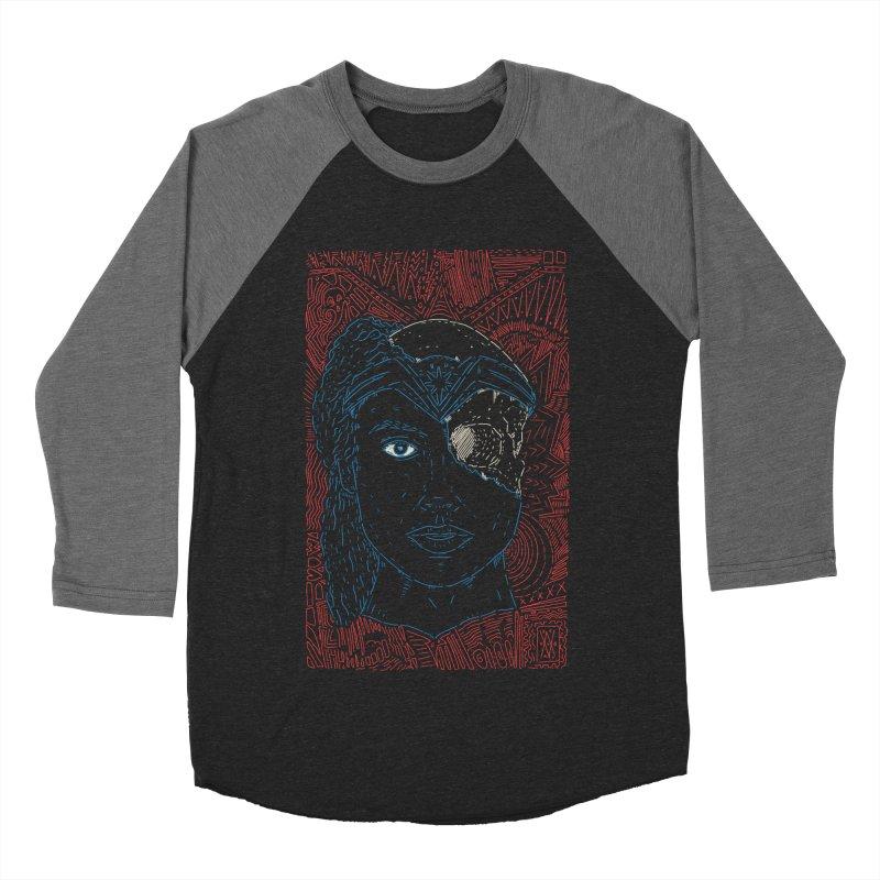 Amazonian Skull Men's Baseball Triblend Longsleeve T-Shirt by Krist Norsworthy Art & Design