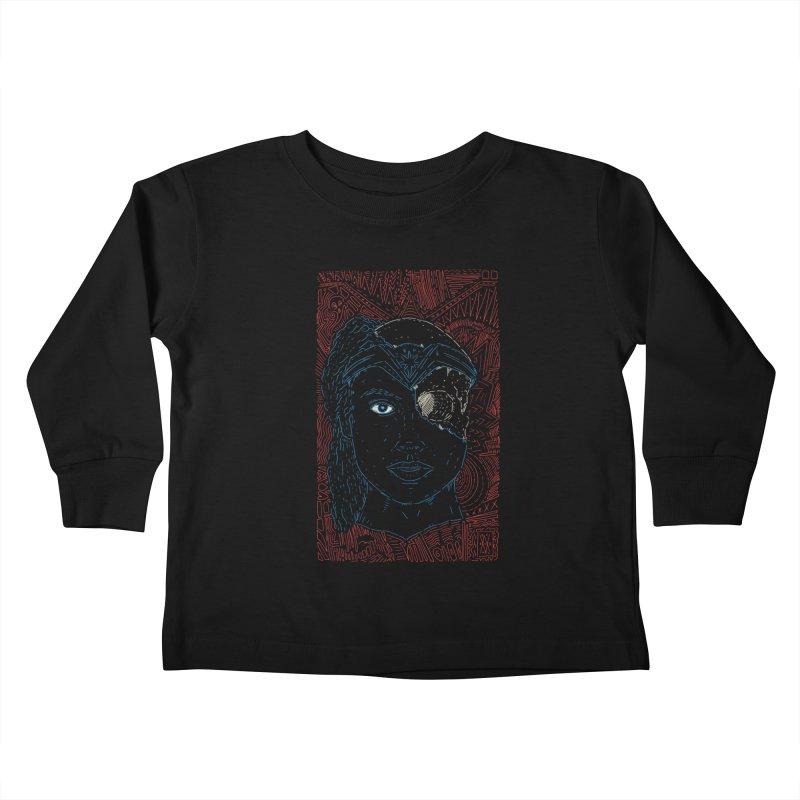 Amazonian Skull Kids Toddler Longsleeve T-Shirt by Krist Norsworthy Art & Design