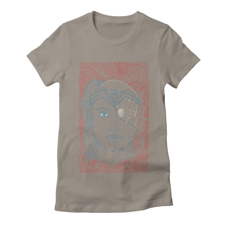 Amazonian Skull Women's Fitted T-Shirt by Krist Norsworthy Art & Design