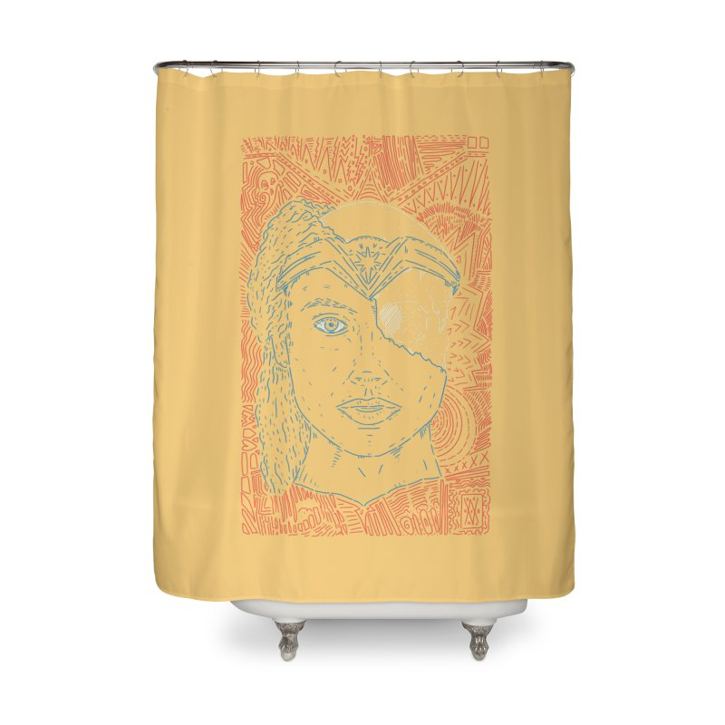 Amazonian Skull Home Shower Curtain by Krist Norsworthy Art & Design