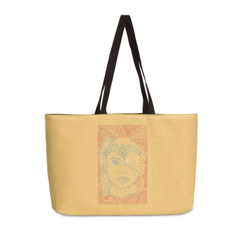 Amazonian Skull Accessories Weekender Bag Bag by Krist Norsworthy Art & Design