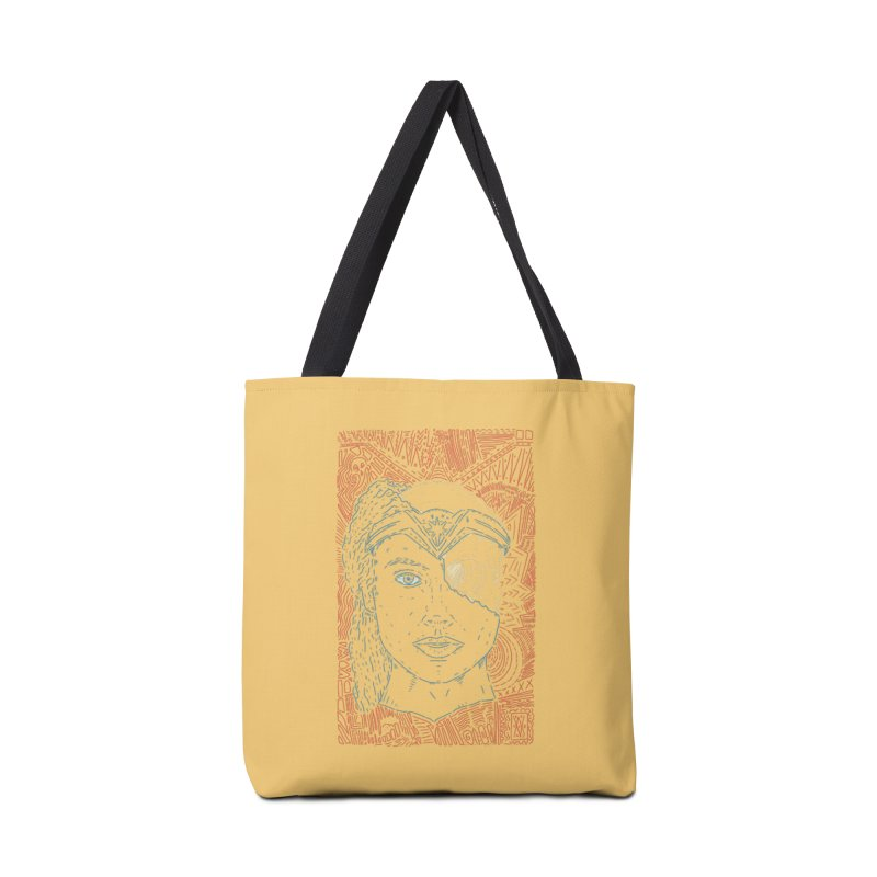 Amazonian Skull Accessories Tote Bag Bag by Krist Norsworthy Art & Design