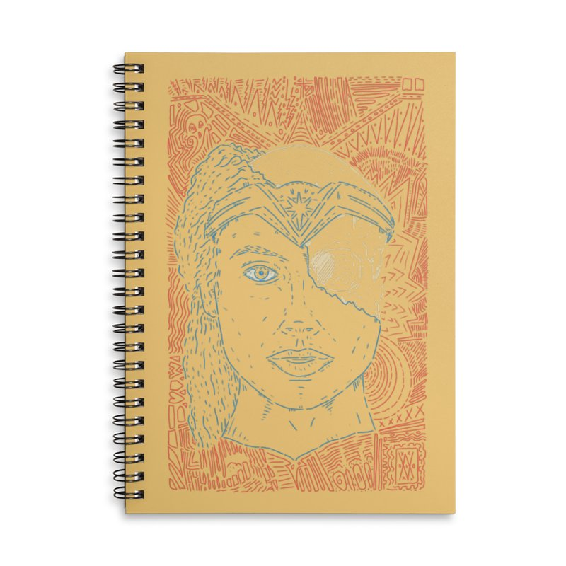 Amazonian Skull Accessories Lined Spiral Notebook by Krist Norsworthy Art & Design