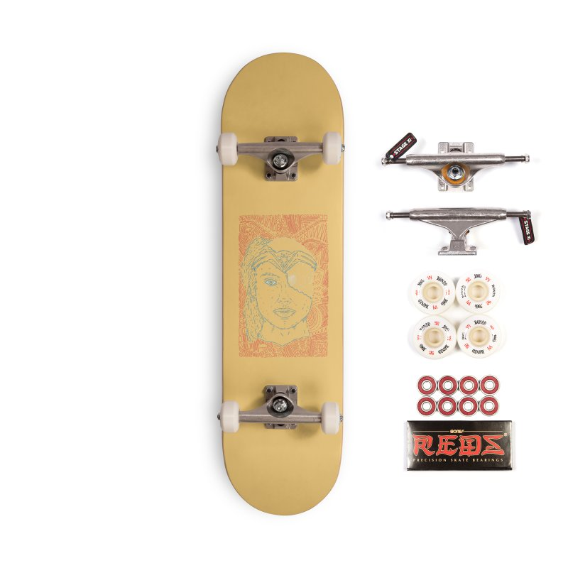 Amazonian Skull Accessories Complete - Pro Skateboard by Krist Norsworthy Art & Design