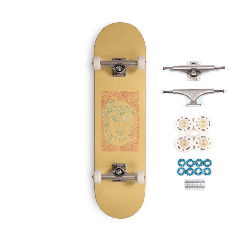 Amazonian Skull Accessories Complete - Premium Skateboard by Krist Norsworthy Art & Design