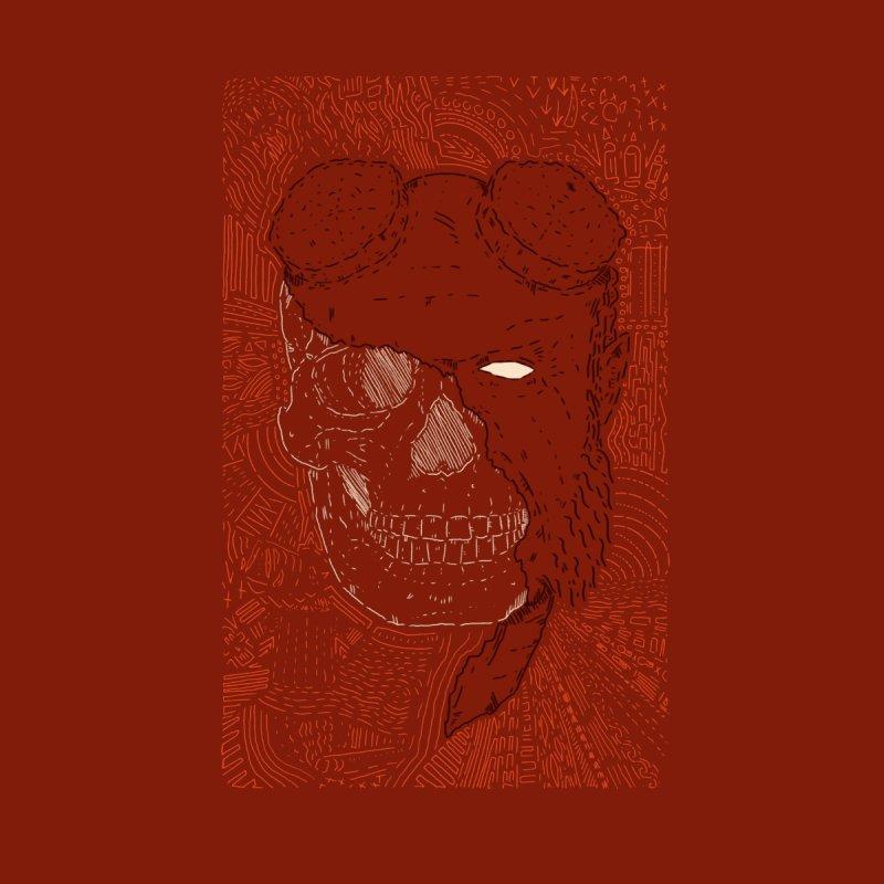 Hades Man Skull Men's Zip-Up Hoody by Krist Norsworthy Art & Design