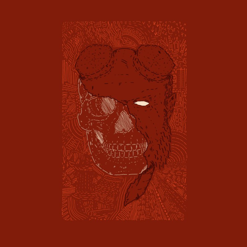 Hades Man Skull by Krist Norsworthy Art & Design
