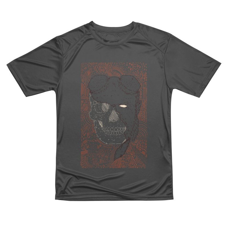 Hades Man Skull Women's Performance Unisex T-Shirt by Krist Norsworthy Art & Design