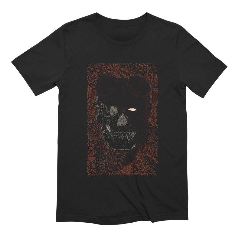 Hades Man Skull Men's Extra Soft T-Shirt by Krist Norsworthy Art & Design