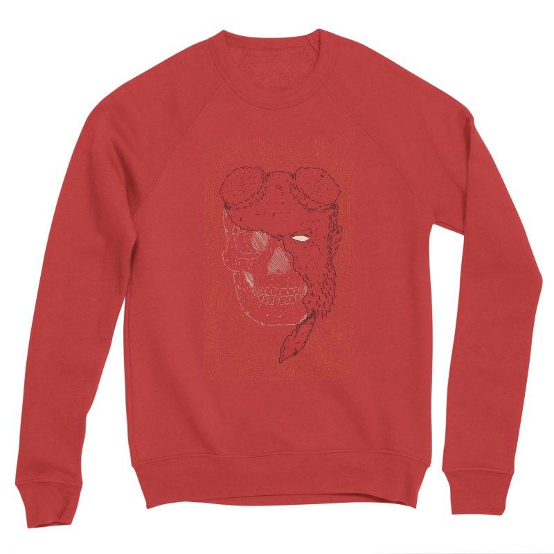 Hades Man Skull Men's Sponge Fleece Sweatshirt by Krist Norsworthy Art & Design