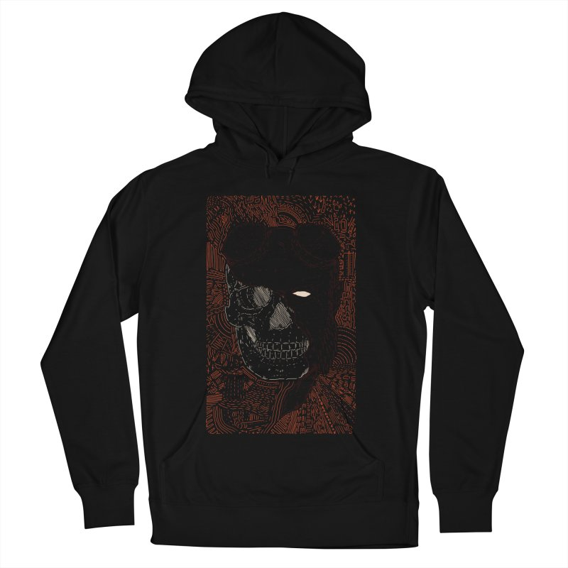 Hades Man Skull Women's French Terry Pullover Hoody by Krist Norsworthy Art & Design