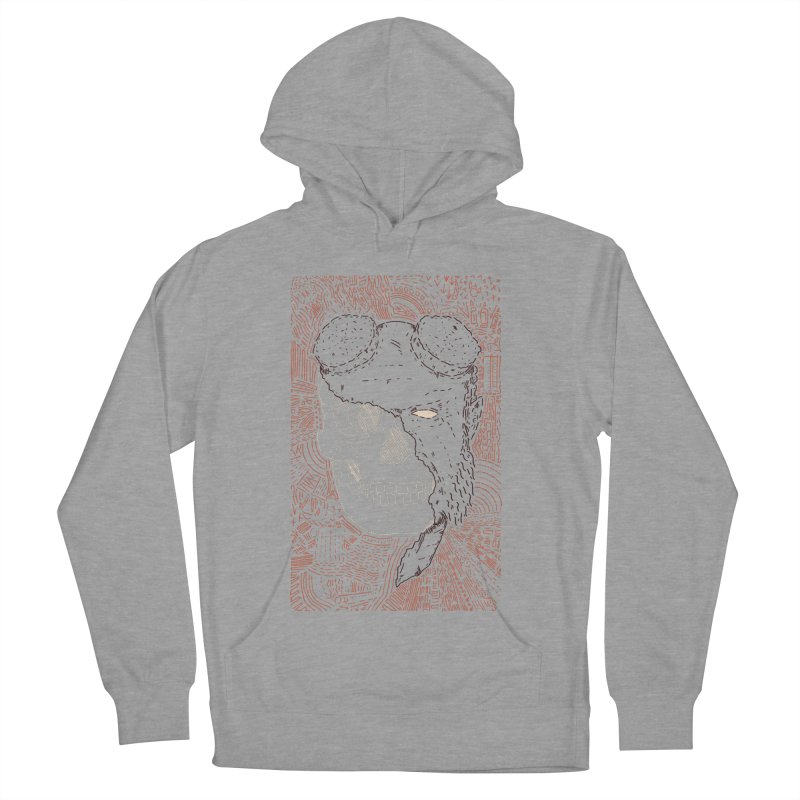Hades Man Skull Men's French Terry Pullover Hoody by Krist Norsworthy Art & Design