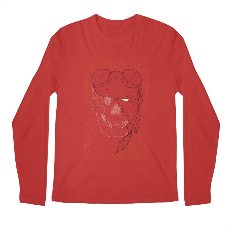 Hades Man Skull Men's Regular Longsleeve T-Shirt by Krist Norsworthy Art & Design