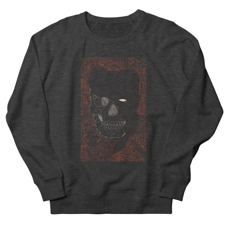 Hades Man Skull Women's French Terry Sweatshirt by Krist Norsworthy Art & Design