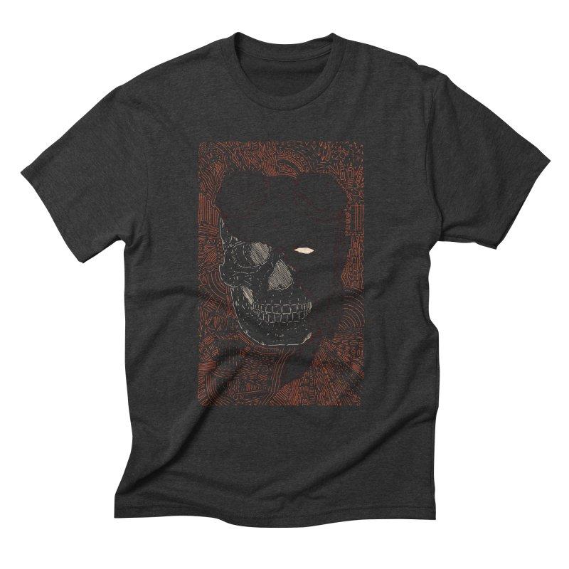 Hades Man Skull Men's Triblend T-Shirt by Krist Norsworthy Art & Design