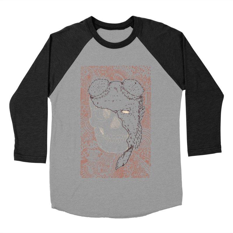 Hades Man Skull Men's Baseball Triblend Longsleeve T-Shirt by Krist Norsworthy Art & Design