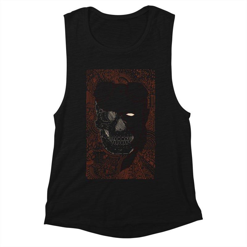 Hades Man Skull Women's Muscle Tank by Krist Norsworthy Art & Design