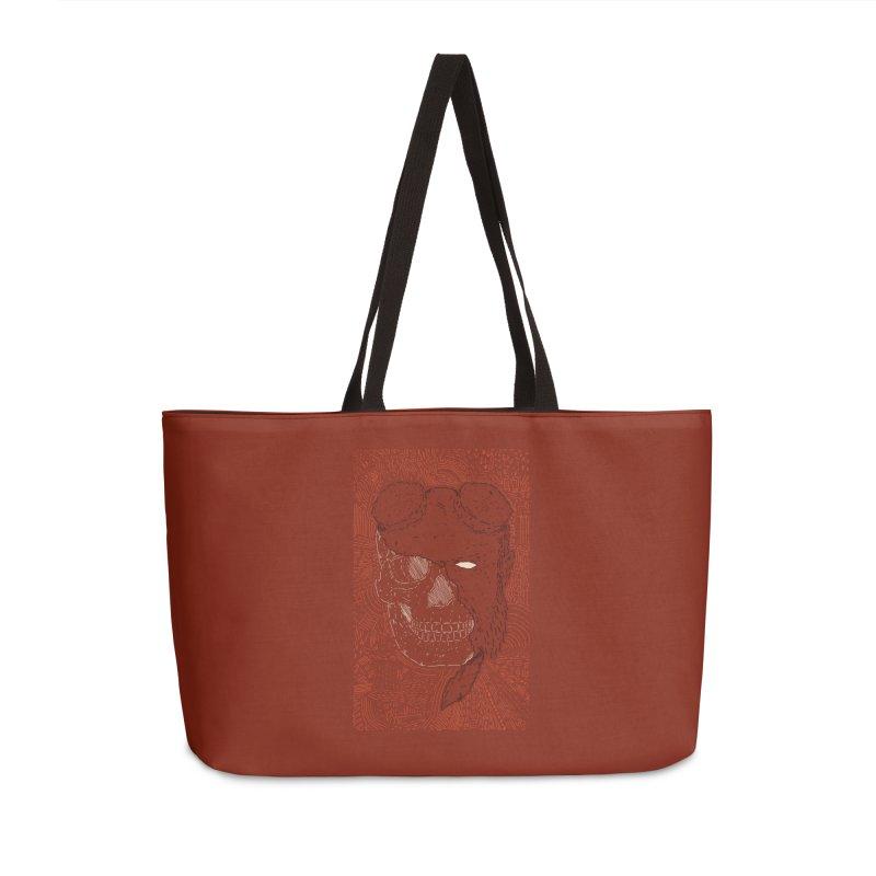 Hades Man Skull Accessories Weekender Bag Bag by Krist Norsworthy Art & Design