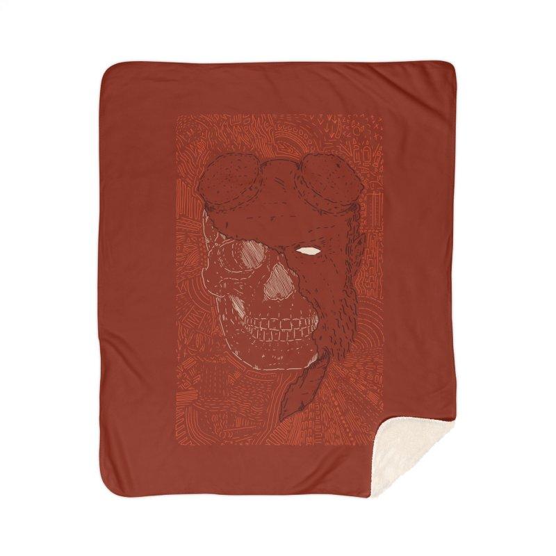 Hades Man Skull Home Sherpa Blanket Blanket by Krist Norsworthy Art & Design