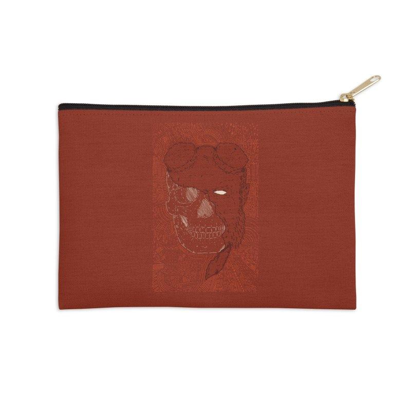 Hades Man Skull Accessories Zip Pouch by Krist Norsworthy Art & Design