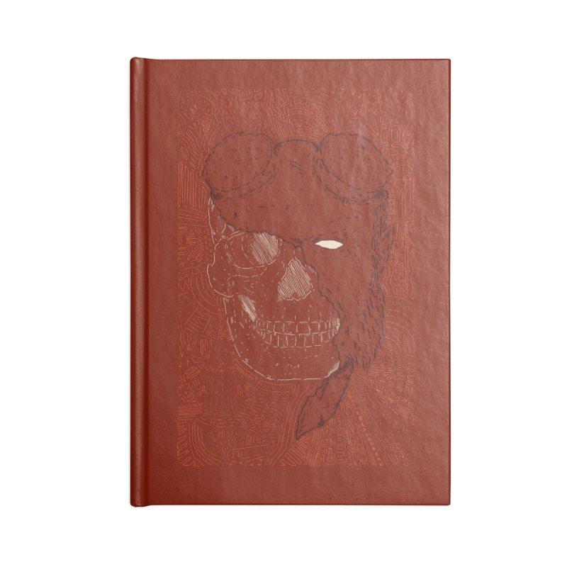 Hades Man Skull Accessories Blank Journal Notebook by Krist Norsworthy Art & Design