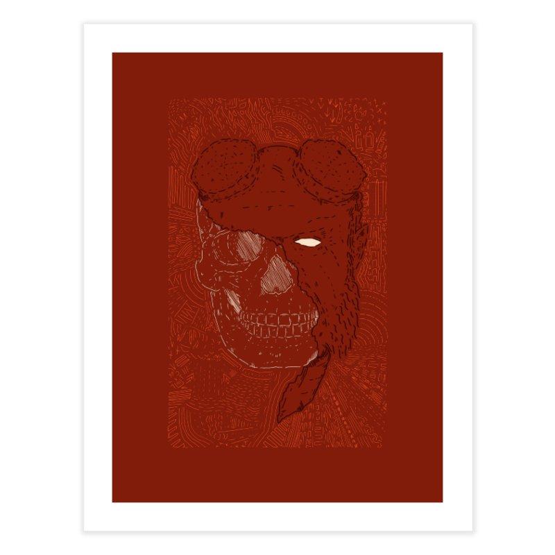 Hades Man Skull Home Fine Art Print by Krist Norsworthy Art & Design