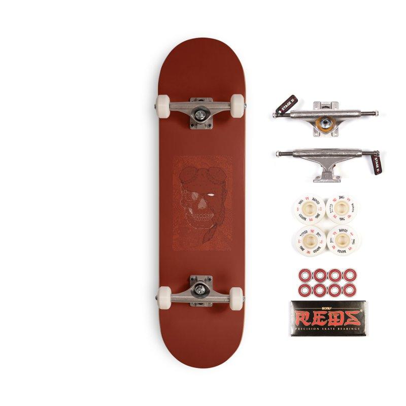 Hades Man Skull Accessories Complete - Pro Skateboard by Krist Norsworthy Art & Design