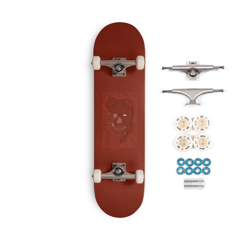 Hades Man Skull Accessories Complete - Premium Skateboard by Krist Norsworthy Art & Design
