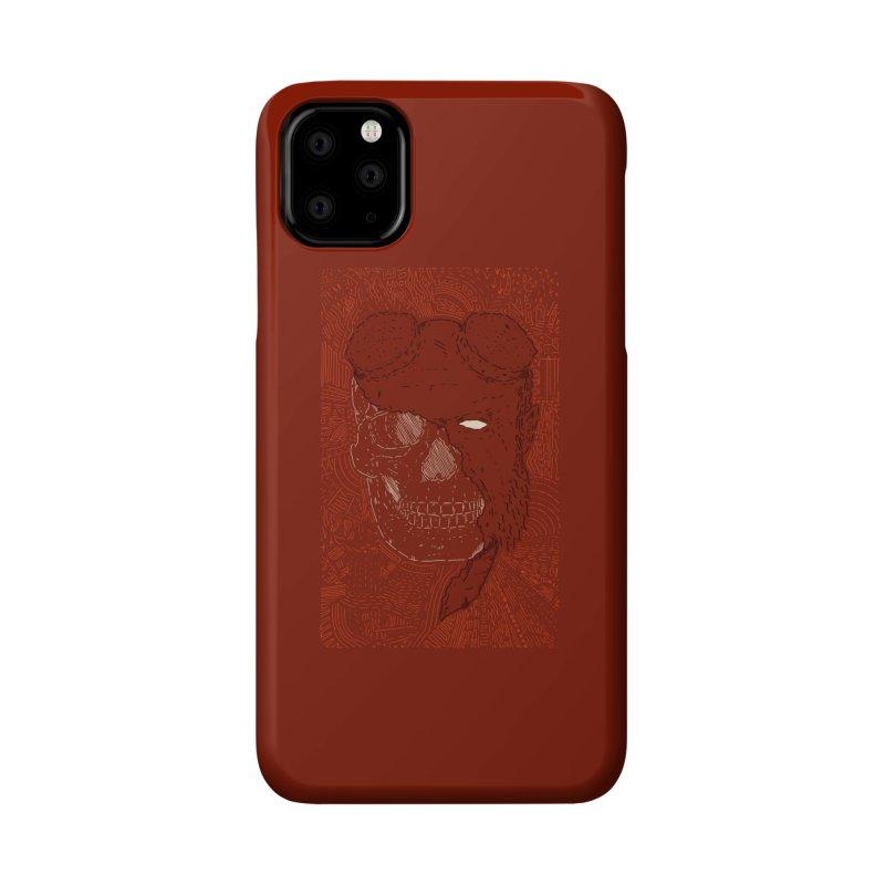 Hades Man Skull Accessories Phone Case by Krist Norsworthy Art & Design