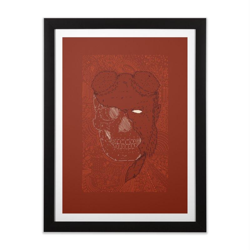 Hades Man Skull Home Framed Fine Art Print by Krist Norsworthy Art & Design