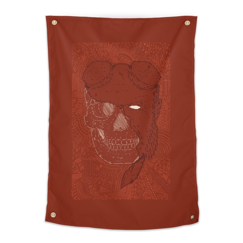 Hades Man Skull Home Tapestry by Krist Norsworthy Art & Design