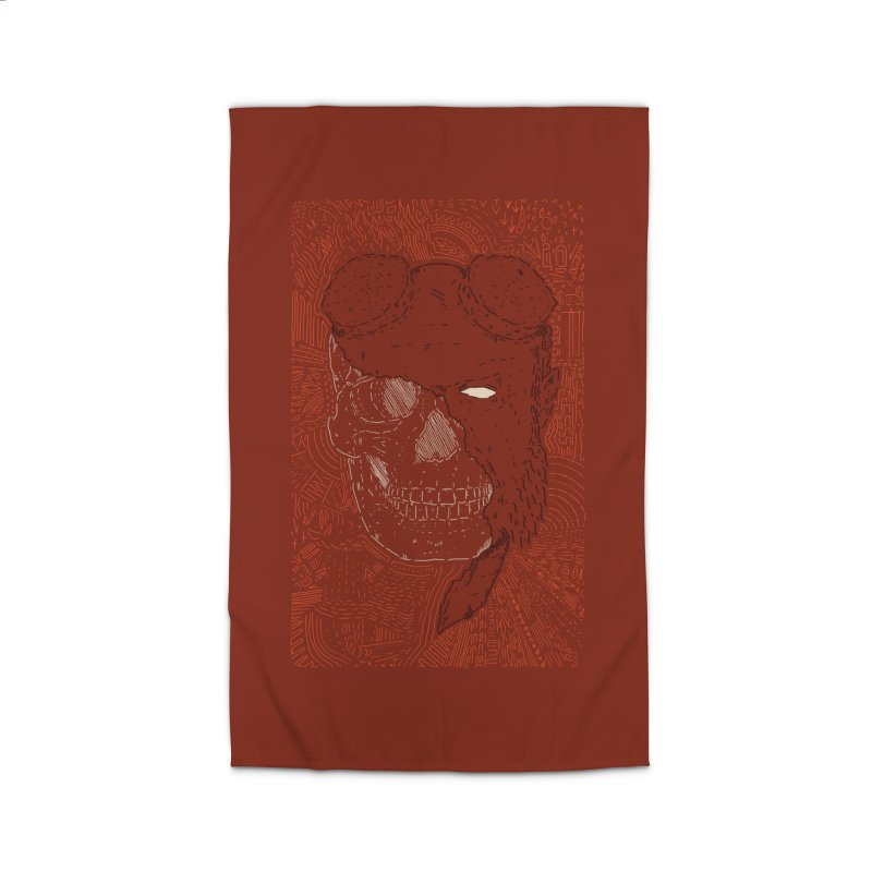 Hades Man Skull Home Rug by Krist Norsworthy Art & Design