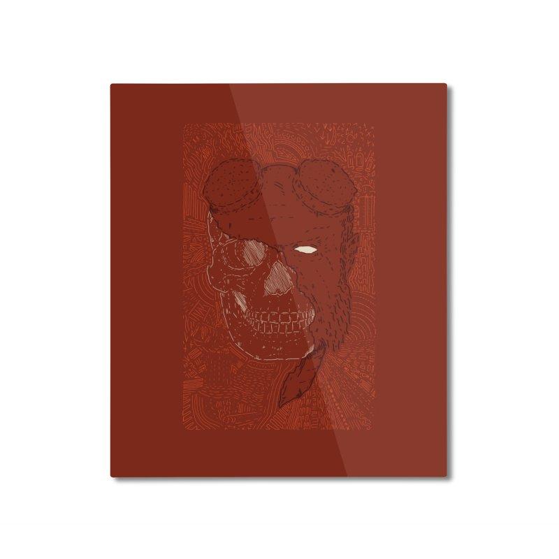 Hades Man Skull Home Mounted Aluminum Print by Krist Norsworthy Art & Design