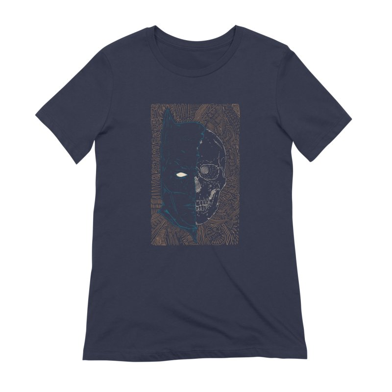 Detective Skull Women's Extra Soft T-Shirt by Krist Norsworthy Art & Design