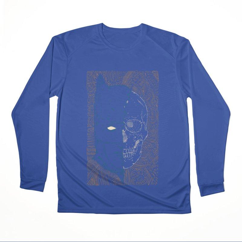 Detective Skull Women's Performance Unisex Longsleeve T-Shirt by Krist Norsworthy Art & Design