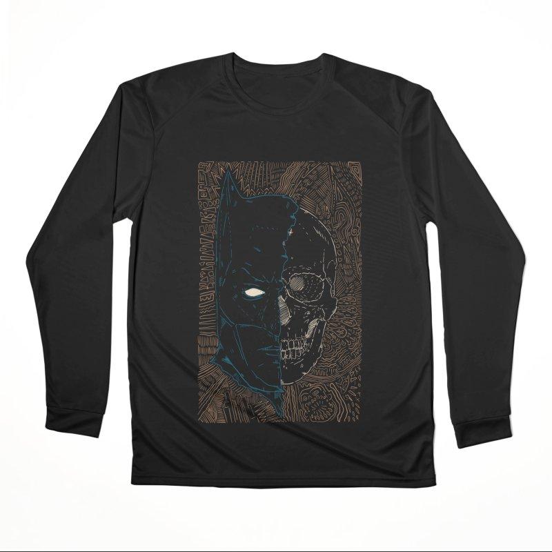 Detective Skull Men's Performance Longsleeve T-Shirt by Krist Norsworthy Art & Design