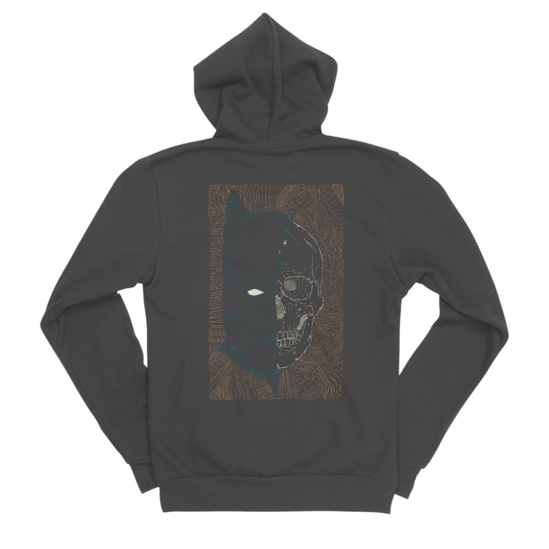 Detective Skull Women's Sponge Fleece Zip-Up Hoody by Krist Norsworthy Art & Design