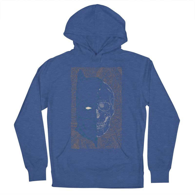Detective Skull Women's French Terry Pullover Hoody by Krist Norsworthy Art & Design