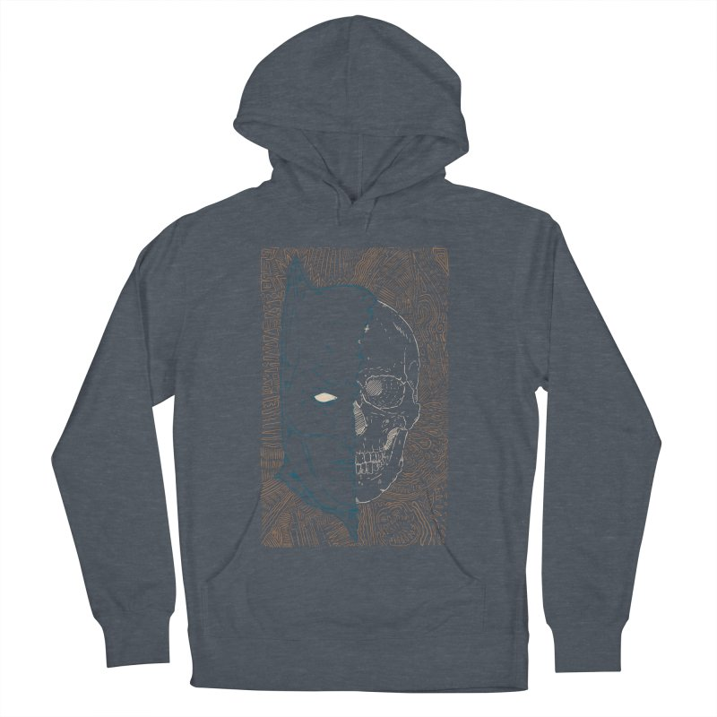 Detective Skull Men's French Terry Pullover Hoody by Krist Norsworthy Art & Design