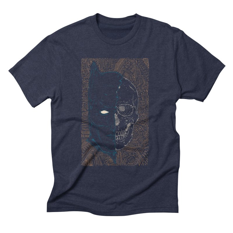 Detective Skull Men's Triblend T-Shirt by Krist Norsworthy Art & Design