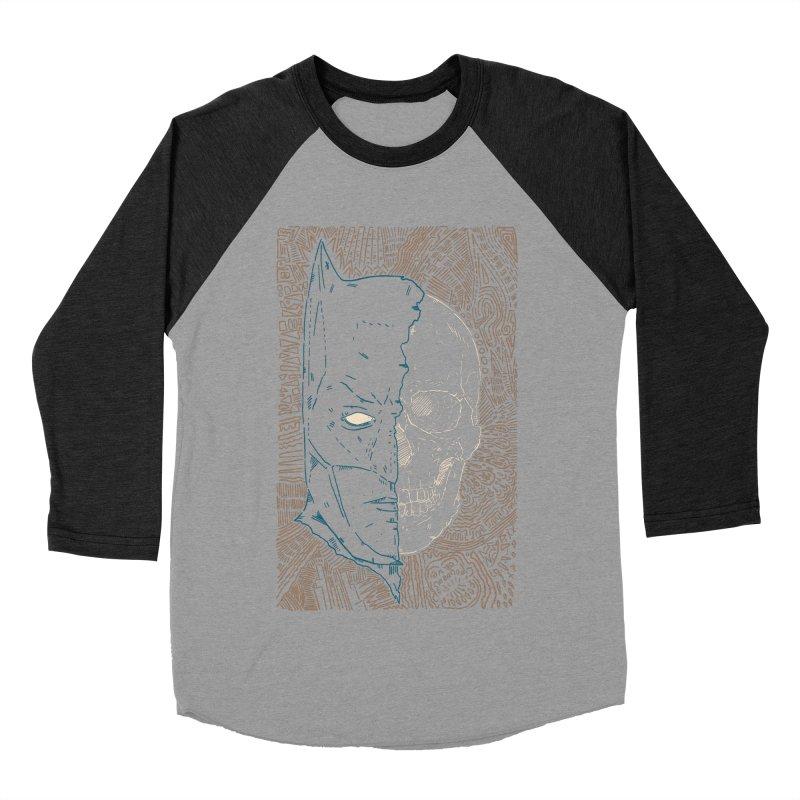 Detective Skull Women's Baseball Triblend Longsleeve T-Shirt by Krist Norsworthy Art & Design