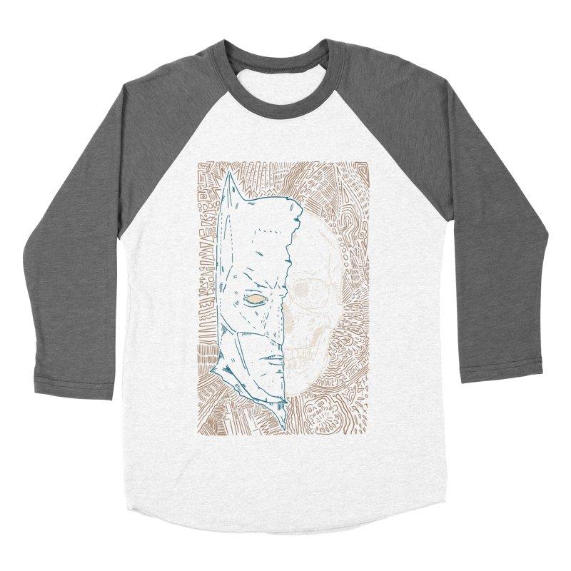 Detective Skull Men's Baseball Triblend Longsleeve T-Shirt by Krist Norsworthy Art & Design