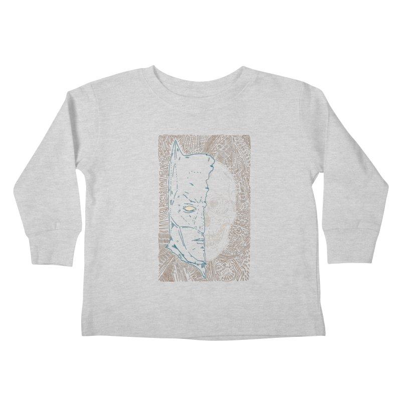 Detective Skull Kids Toddler Longsleeve T-Shirt by Krist Norsworthy Art & Design