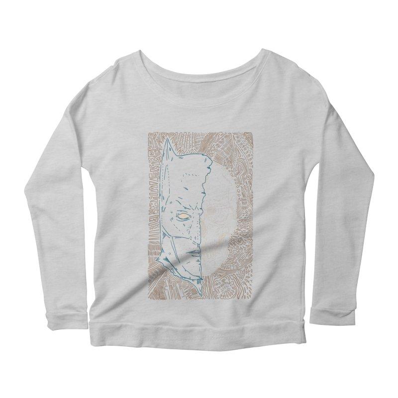 Detective Skull Women's Scoop Neck Longsleeve T-Shirt by Krist Norsworthy Art & Design