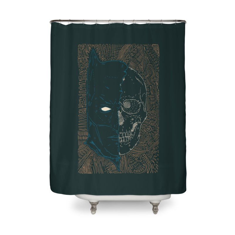 Detective Skull Home Shower Curtain by Krist Norsworthy Art & Design