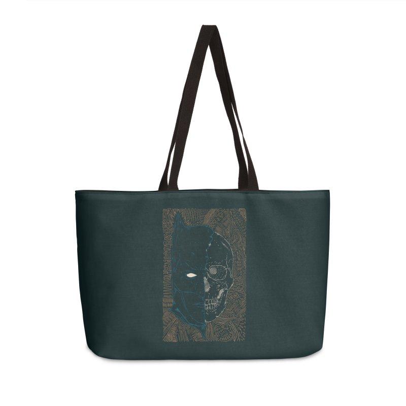 Detective Skull Accessories Weekender Bag Bag by Krist Norsworthy Art & Design
