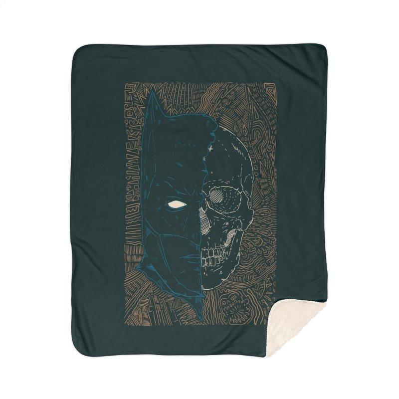 Detective Skull Home Sherpa Blanket Blanket by Krist Norsworthy Art & Design