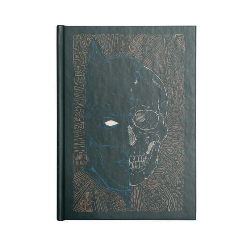 Detective Skull Accessories Lined Journal Notebook by Krist Norsworthy Art & Design